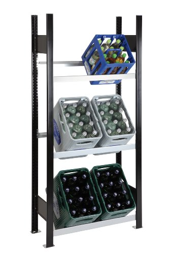 SCHULTE Getränkekisten-Grundregal 1800 x 810 x 336 mm, 3 Ebenen