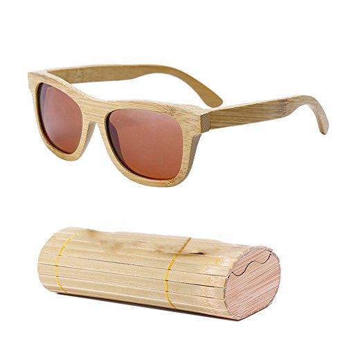 de los de la Sol de Gafas Gafas Sol Hombres Gafas Gafas de de Caja de Sol con los de de Brown Madera bambú de Las Las de Las Hombres Dastrues RptxYqInt