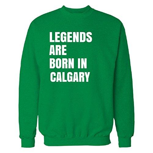 Inked Creatively Legends Are Born In Calgary Cool Gift - Sweatshirt Irish_green - Calgary Irish Shop