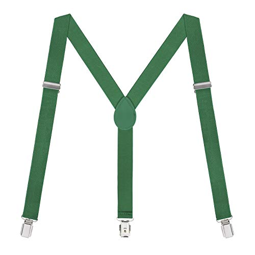 HDE Green Suspenders St Pattys Day Suspender Christmas Holiday (Green, 42 inches) -