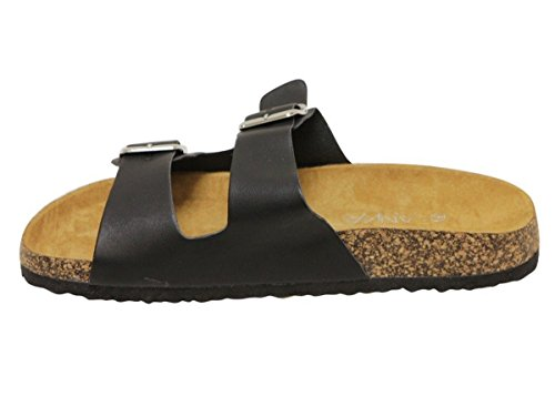 Image of ANNA Womens Light Weight Cork Platform Double Buckles Slide Sandal