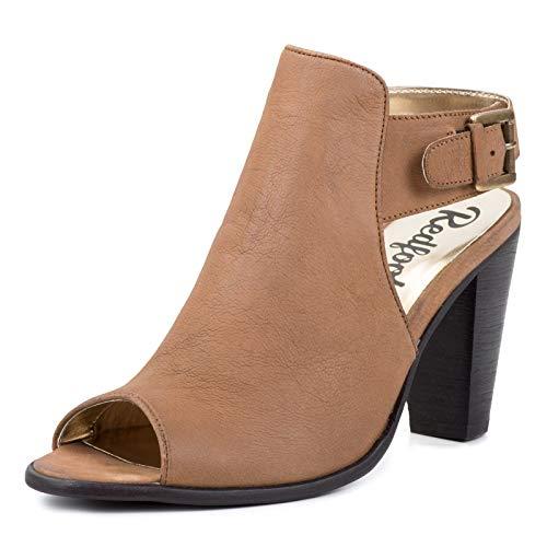 Heeled Peep Toe Redfoot Ladies Tan Sandal q8pIfBFw