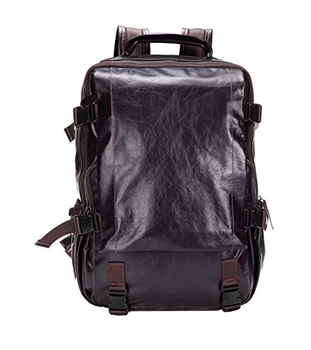 Genda 2Archer Men's Leather Backpack Large School Bag Travel Rucksack by Genda 2Archer
