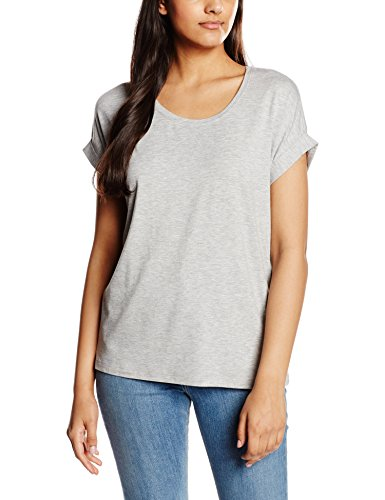 Only Onlmoster S/S Top Noos Jrs - Camiseta Mujer gris (Light Grey Melange)
