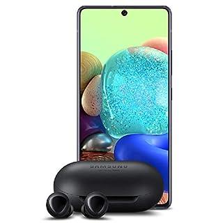 Samsung A71 5G Unlocked -128GB + Samsung Galaxy Buds, Bluetooth True Wireless Earbuds (Wireless charging Case included), Black - US Version