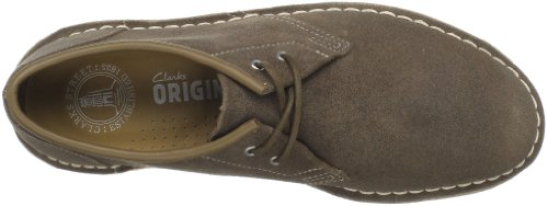 Clarks Mens Jink Oxford Shoe Taupe Distressed 4lEgqVB55