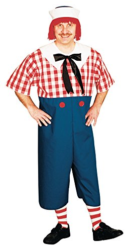 UHC Men's Raggedy Andy Rag Doll Theme Party Fancy Dress Halloween Costume, STD (38-40)