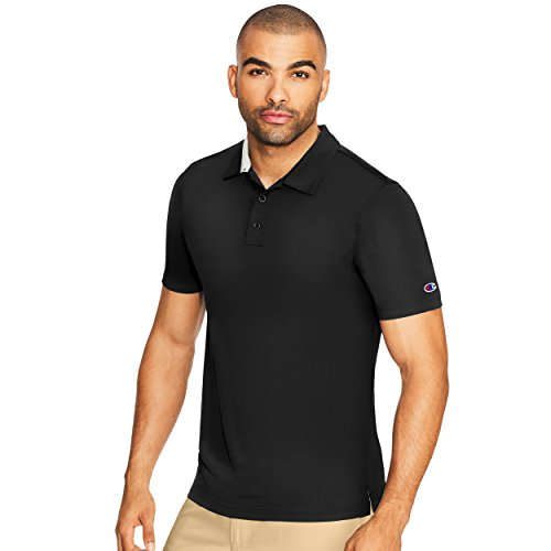 Champion Men's Golf Polo, Black, M (Champions Polo)