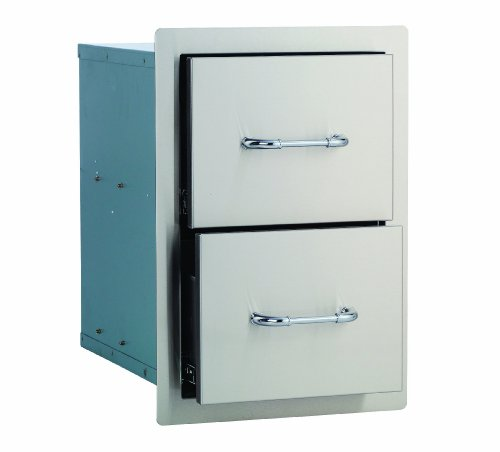 Bull Outdoor Products 56985 Double Drawer, Stainless ()