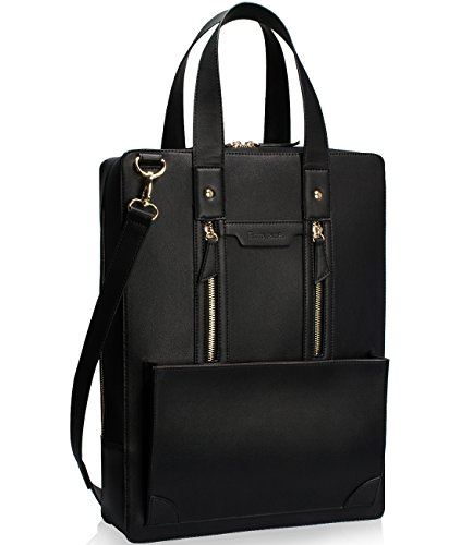 Estarer Women Business Briefcase Handbag PU Leather 15.6 Inch Shoulder Laptop Work Bag ()
