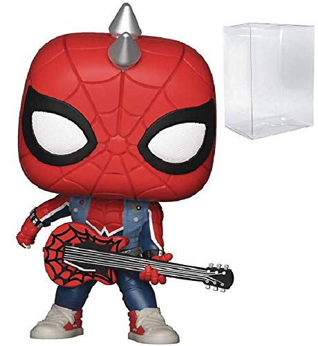 Marvel Spider-Man - Spider-Punk Funko Pop! Vinyl Figure (Includes Compatible Pop Box Protector Case)