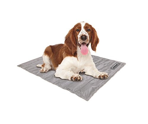Coleman Comfort Cooling Gel Pet Pad Mat in Medium 24x30, For Medium Pets (Silver)