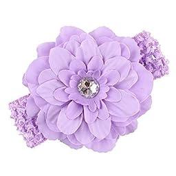 QM® Baby Girl\'s Headbands Peony Flower(12 Pack)
