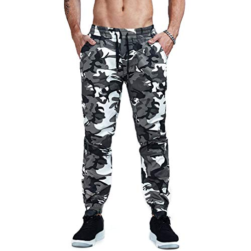 AIMPACT Mens Camouflage Pants Joggers Sweatpants Cotton for Men Cotton Camo Trousers(5014US-32)