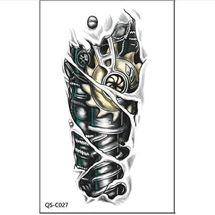yyyDL Tatuajes temporales 3D robot negro brazo mecánico ...
