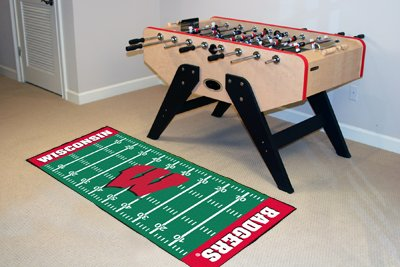 Fanmats Wisconsin Badgers ootball Field Runner by Fan Mats