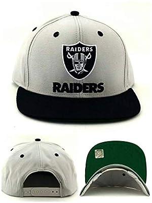 2 Tone Oakland Raiders Snapback Hat Cap - 2 Tone Grey Black