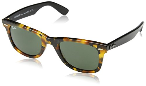 Ray-Ban Women's Icons Wayfarer Sunglasses, Spotted Black Havana/Black, One - Sunglasses Ladies Rayban