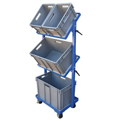 Plastic Multi-Tier Stock Cart - 16-1/2''h x 15-1/2''w x 23-1/2''l by Emedco (Image #1)
