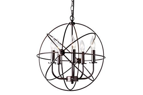 Baxton Studio 151-9216-AMZ Chandelier & Pendants Dark Bronze