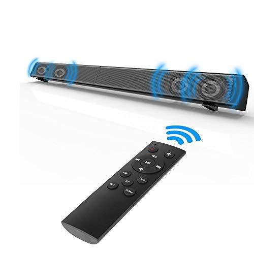 GSPOR Barra de Sonido TV Bluetooth,inalámbrica y por Cable Altavoz de Cine en casa Barras de Sonido Envolvente,Soporte para...