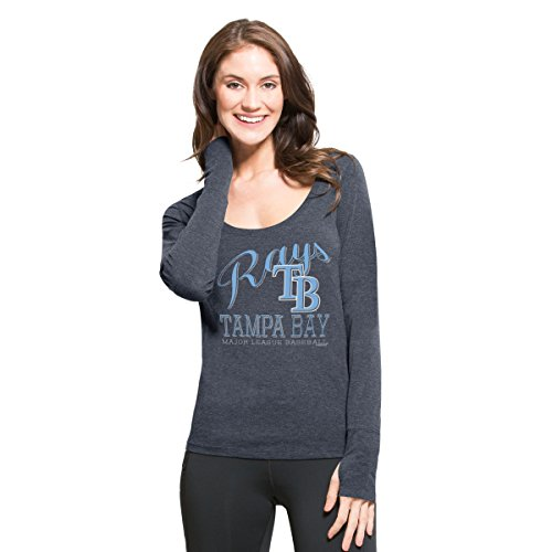 MLB Tampa Bay Rays Women's '47 Dash Long Sleeve Tee, Small, Shift - Rays Clothing