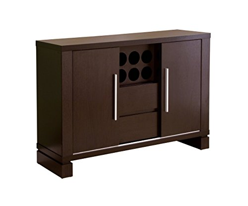 ioHOMES Studio Buffet with Wine Holder, Cappuccino (Buffet With Wine Holder)