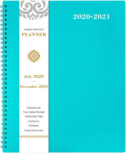 2020-2021 Monthly Planner 18-Month