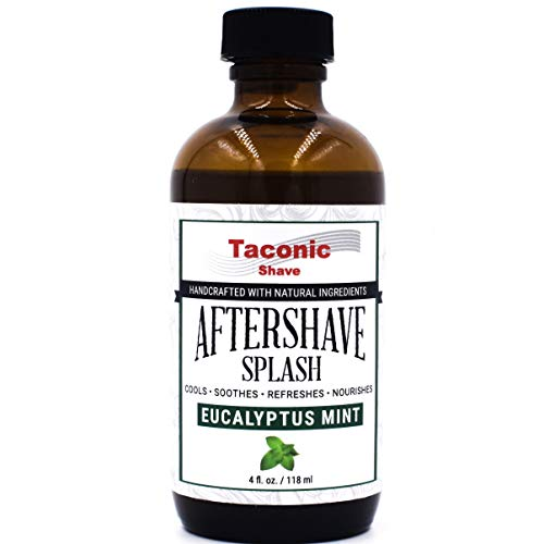 Taconic Shaves Eucalyptus Mint Aftershave Splash - Cooling Formula - Artisan Made in the USA