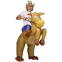 Disfraz de vaquero inflable de Halloween - Disfraz de disfraz de caballo - Fiesta de despedida de soltero