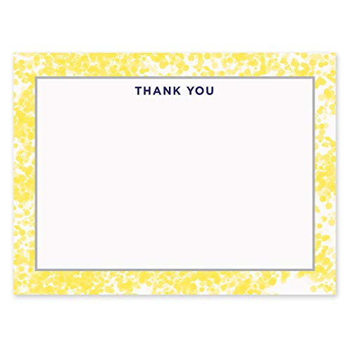 - Dotted Border Personalized Note Cards – 4 1/8 inches x 5 1/2 inches, Heavyweight Stock, Matching Envelopes, (Set of 10), by Fine Stationery