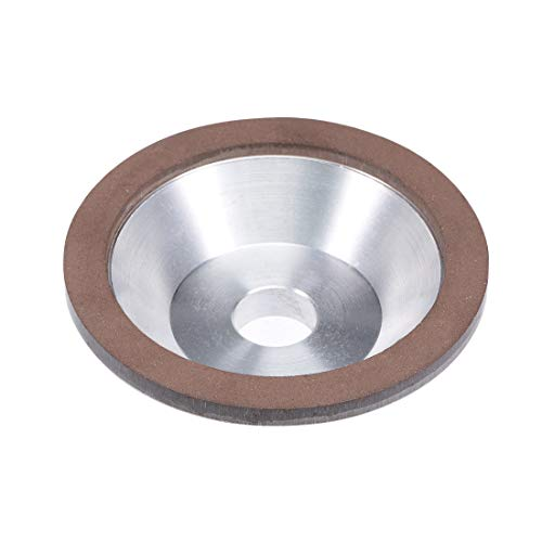 uxcell 100x32x20x10x3mm Resin Bond Cup Diamond Grinding Wheel 150 Grit for Carbide Metal by uxcell