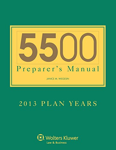 5500 Preparers Manual for 2013 Plan Years