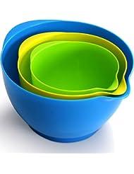 Utopia Kitchen Mixing Bowl Set (3 Pieces - 1.2 Quarts - 2.1 Quarts - 3.6 Quarts)