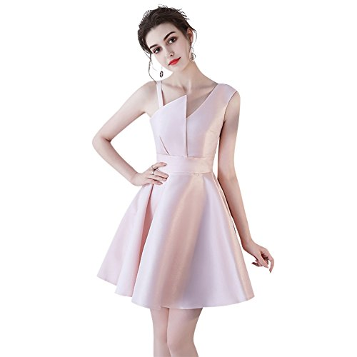 Satin Evening Duraplast Pink Cocktail Women's Dress Short Blushing Gown Fashion xwxXSvr0