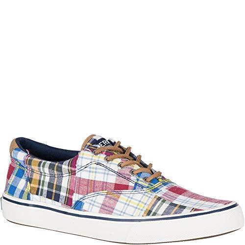 SPERRY Men's Striper II CVO Prep Sneaker, Patchwork Madras, 12 -