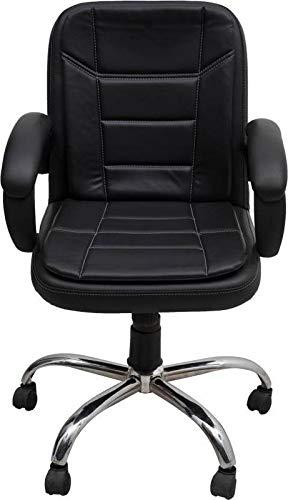 Mezonite Medium Back Black Leatherette Office Executive Chair