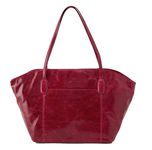 [Hobo Womens Leather Vintage Patti Tote Bag (Red Plum)] (Hobo Purses)