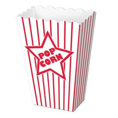 Paper Popcorn Boxes   (8/Pkg)