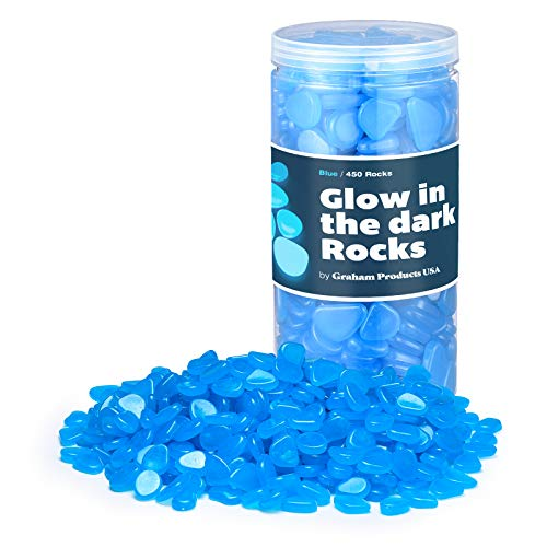 Graham Products Glow in The Dark Rocks Non-Toxic Glowing Stones for Use as Aquarium/Fish Tank Accessories or Indoor…