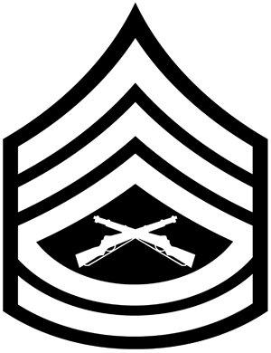 amazon com military usmc rank gunnery sergeant vinyl car decal