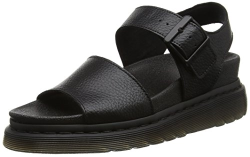 Dr. Martens Womens Romi Festival Holiday Open Toe Casual Leather Sandals - Black Pebble Lamper - 8 (Adult Sandals Cute)