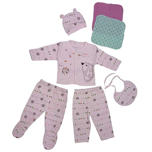 Infant Layette (Newborn Baby Clothes Unisex Boy Girl Outfits Infant Layette Set with Essentials Pink)