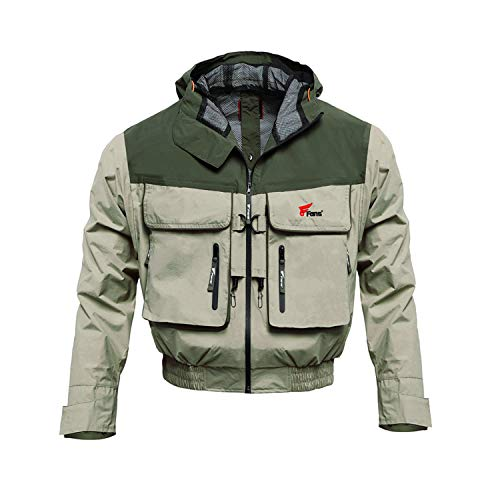8 Fans Men Women Wading Jackets - Breathable Windproof Hood Jacket Windbreaker for Outdoor Snowmobile Hiking Safaris Hunting Skiing Sports Fishing Jackets