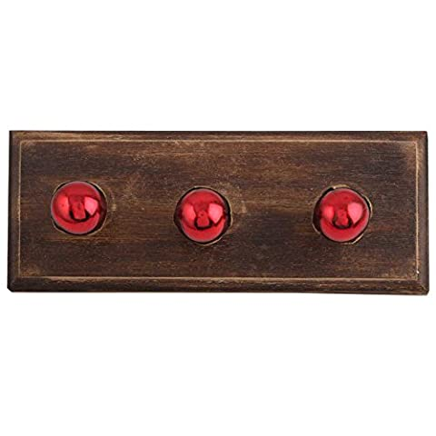 Red Round Glass Wooden Wall Coat Key Hooks Cloth Hanging Hanger WHK-1032-MGK-25 - 1032 Red Kitchen