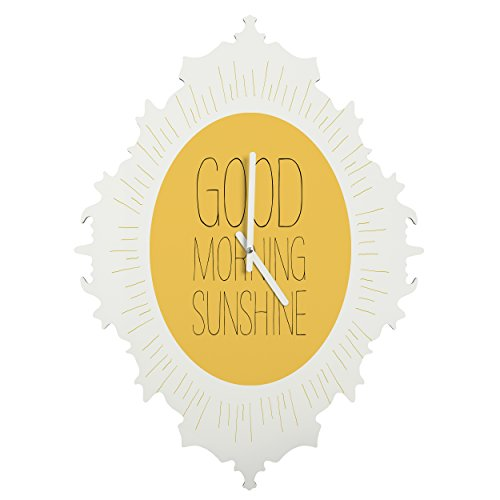 Deny Designs  Allyson Johnson, Morning Sunshine, Baroque Clock, Medium by Deny Designs