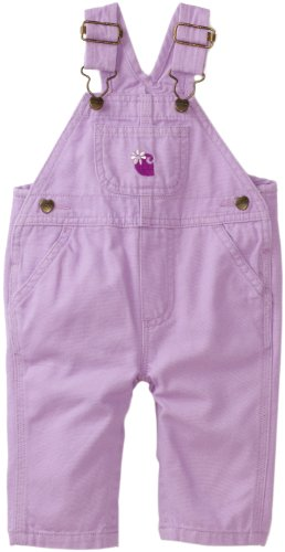 Carhartt Baby Girls' Washed Canvas Bib Overall