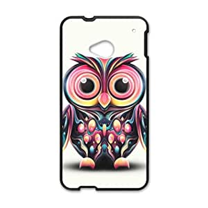 Personalized Creative Cell Phone Case For HTC M7,cute owl with white background
