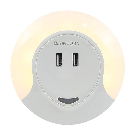 Slosh Luz Nocturna Infantil Noche Niños Enchufe Bebe Luce Noche Led Bambino Automática Con Sensor De