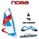 BIC Sport Nova Complete Windsurfing Rig, Red/White/Blue, 4.0 Square Meter